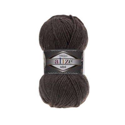 ALIZE SUPERLANA MIDI - 240 BROWN MELANGE